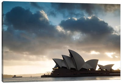 Sydney Opera House At Sunrise, Sydney, New South Wales, Australia Canvas Print #TEO98