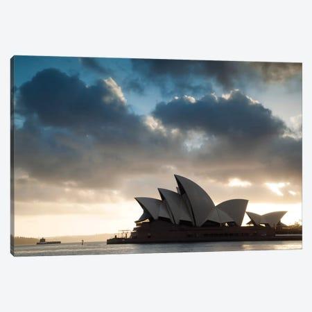 Sydney Opera House At Sunrise, Sydney, New South Wales, Australia Canvas Print #TEO98} by Matteo Colombo Canvas Print