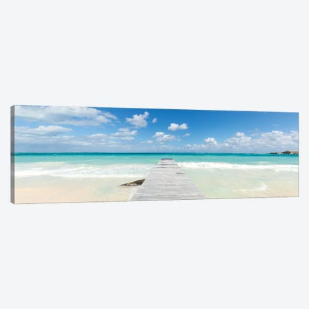Jetty On The Caribbean Sea II Canvas Print #TEO990} by Matteo Colombo Canvas Art