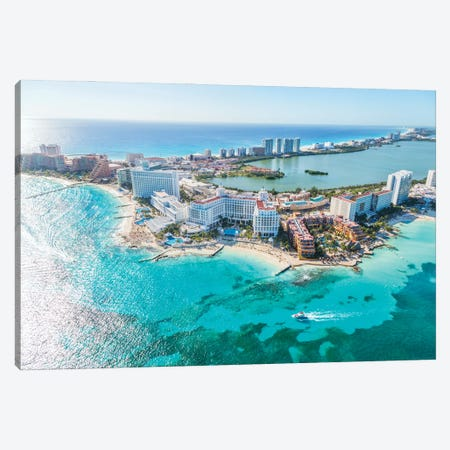 Cancun From The Air II Canvas Print #TEO992} by Matteo Colombo Canvas Artwork