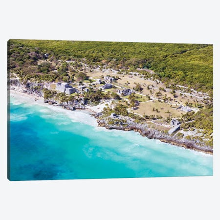 Tulum Ruins, Mexico Canvas Print #TEO993} by Matteo Colombo Canvas Artwork