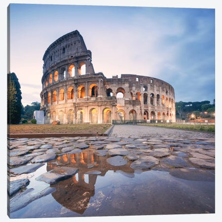The Colosseum, Rome, Lazio, Italy Canvas Print #TEO99} by Matteo Colombo Canvas Art Print