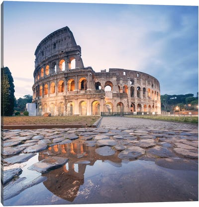 The Colosseum, Rome, Lazio, Italy Canvas Art Print
