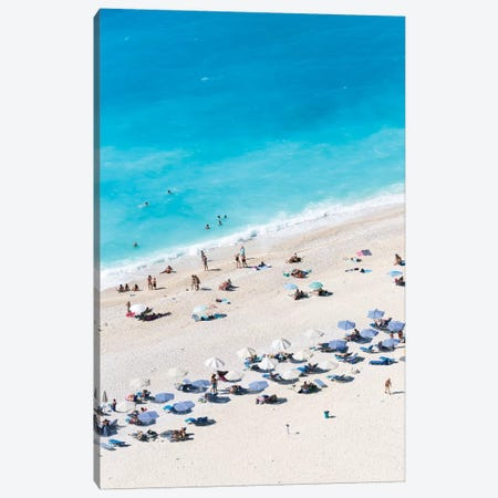 Aerial View Of Myrtos Beach VII, Cephalonia, Ionian Islands, Greece Canvas Print #TEO9} by Matteo Colombo Canvas Art Print