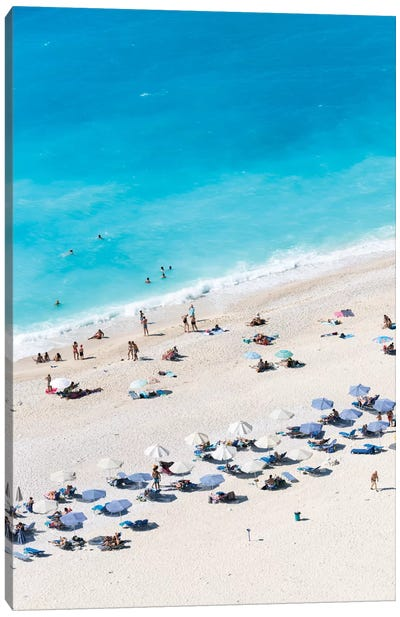 Aerial View Of Myrtos Beach VII, Cephalonia, Ionian Islands, Greece Canvas Art Print