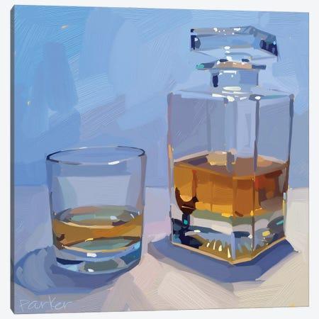 Whiskey Strokes Canvas Print #TEP100} by Teddi Parker Canvas Artwork
