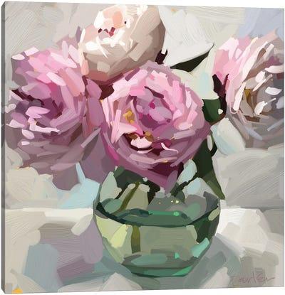 Fresh Peonies Canvas Art Print