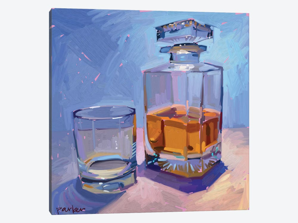 Highball And Glasses by Teddi Parker 1-piece Canvas Wall Art
