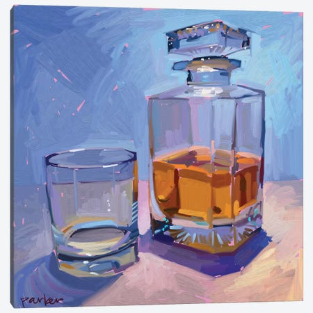 Highball And Glasses Canvas Print #TEP14} by Teddi Parker Art Print