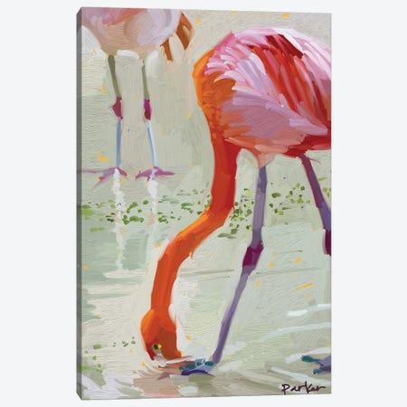 Hungry Flamingo 3-Piece Canvas #TEP15} by Teddi Parker Canvas Art Print
