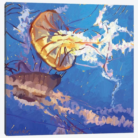 Jellyfish Canvas Print #TEP16} by Teddi Parker Canvas Art Print