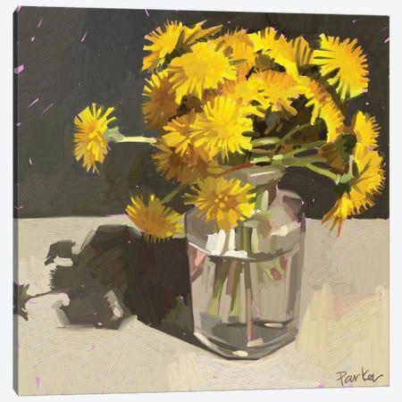 Kids Pick The Best Bouquets Canvas Print #TEP17} by Teddi Parker Canvas Print