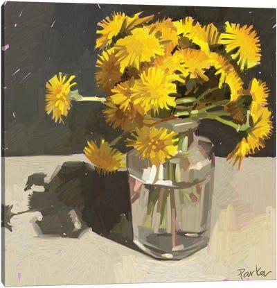 Kids Pick The Best Bouquets Canvas Art Print