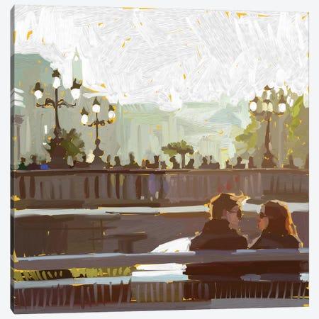 Meet Me At The Bridge Canvas Print #TEP18} by Teddi Parker Canvas Wall Art