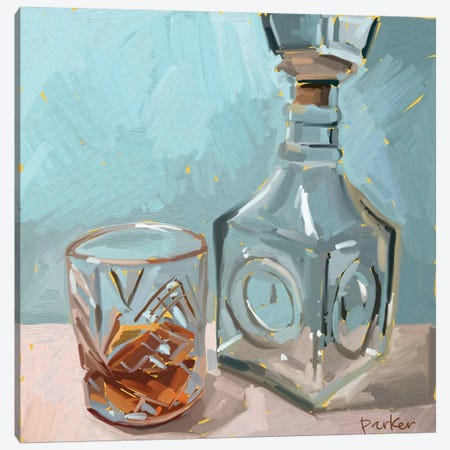 Out Of Whiskey Canvas Print #TEP21} by Teddi Parker Art Print