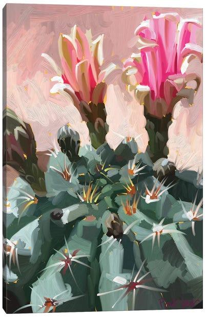 Pink Cactus Canvas Art Print