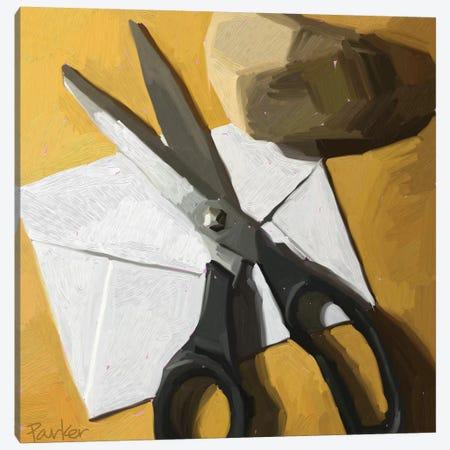Rock, Paper, Scissors Canvas Print #TEP25} by Teddi Parker Canvas Art