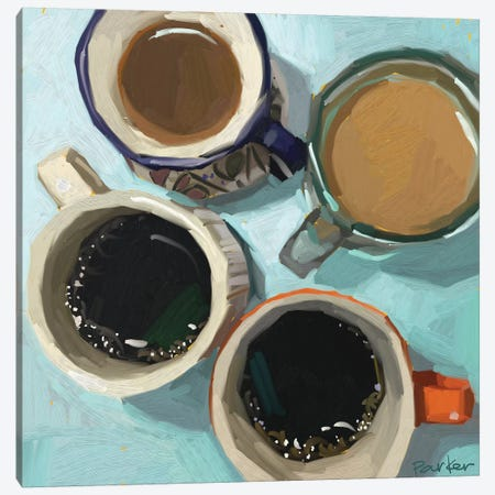 Shades Of Coffee Canvas Print #TEP27} by Teddi Parker Canvas Artwork