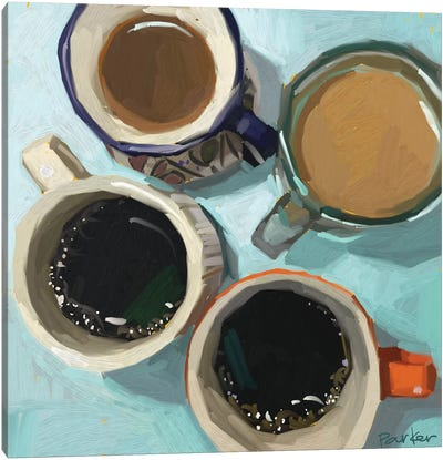Shades Of Coffee Canvas Art Print