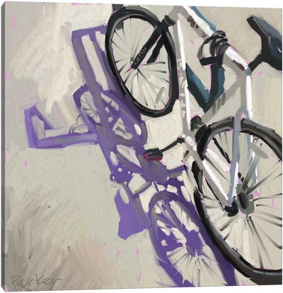 Bike Shadows Canvas Art Print