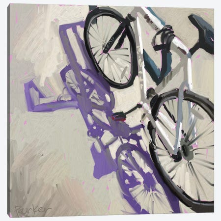 Bike Shadows Canvas Print #TEP2} by Teddi Parker Art Print