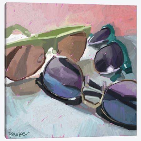 Sunglasses Canvas Print #TEP30} by Teddi Parker Canvas Art