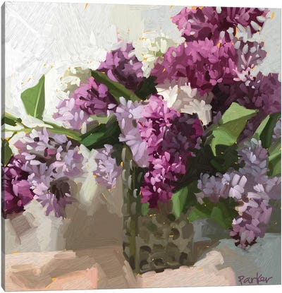 Alley Lilacs Canvas Art Print