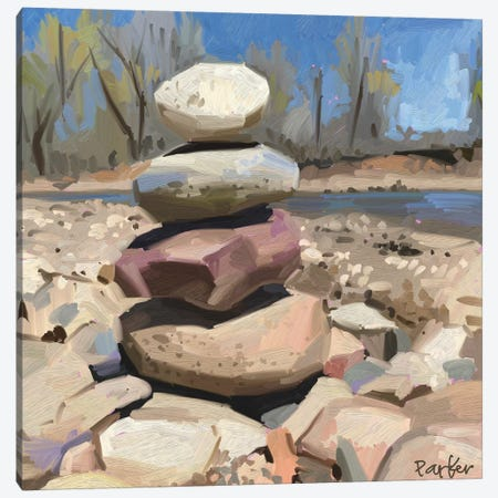 Cairn Canvas Print #TEP37} by Teddi Parker Canvas Art Print