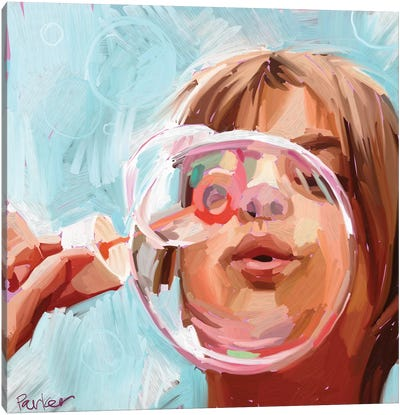 Blowing Bubbles Canvas Art Print