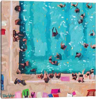 Room In The Pool Canvas Art Print