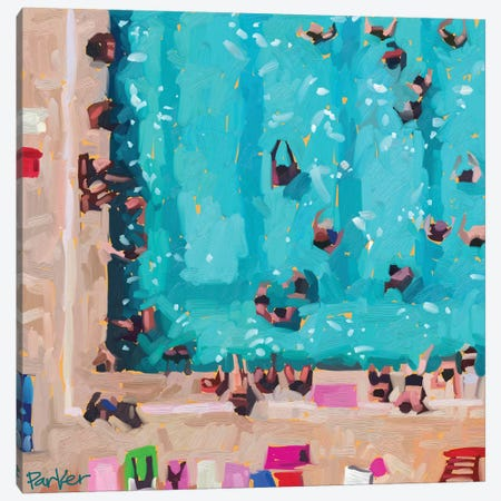 Room In The Pool Canvas Print #TEP40} by Teddi Parker Canvas Art Print