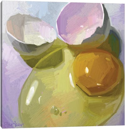 Egg Study Canvas Art Print