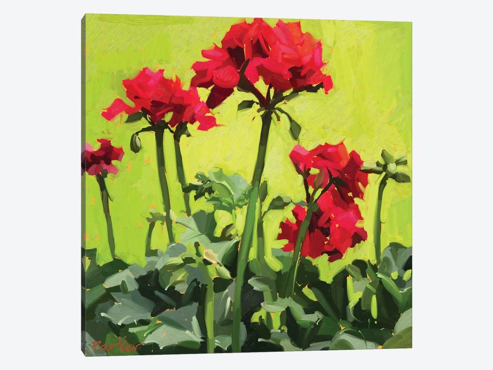 Geranium Love by Teddi Parker 1-piece Canvas Art Print