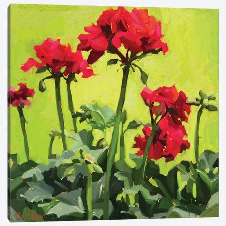 Geranium Love Canvas Print #TEP44} by Teddi Parker Canvas Artwork