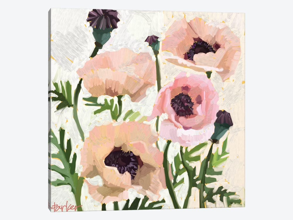 Delicate Poppies by Teddi Parker 1-piece Art Print