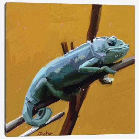 Chameleon Canvas Print #TEP4} by Teddi Parker Canvas Art