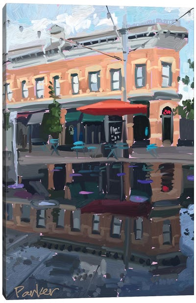 Downtown Fort Collins Canvas Art Print