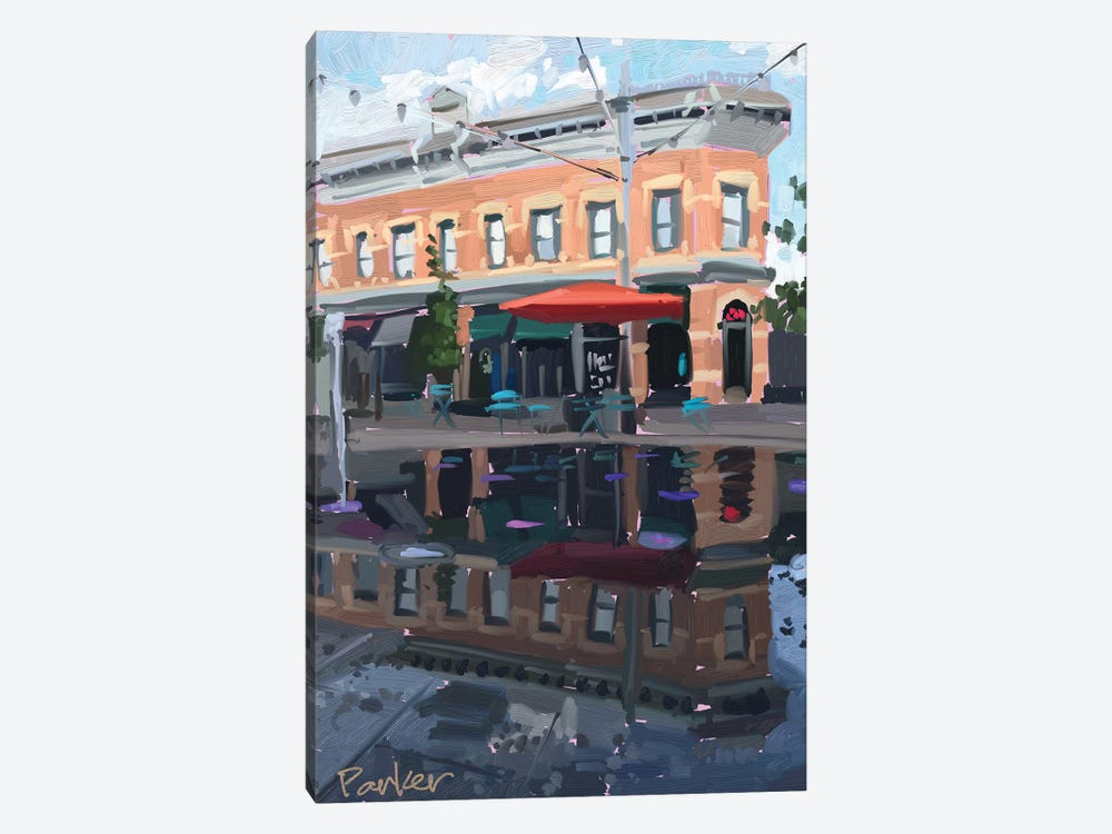 Downtown Fort Collins 1-piece Canvas Artwork