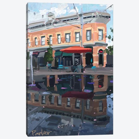 Downtown Fort Collins Canvas Print #TEP50} by Teddi Parker Canvas Art