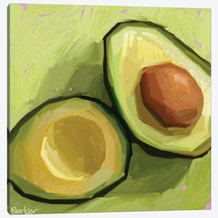 Just An Avocado Canvas Print #TEP52} by Teddi Parker Canvas Wall Art