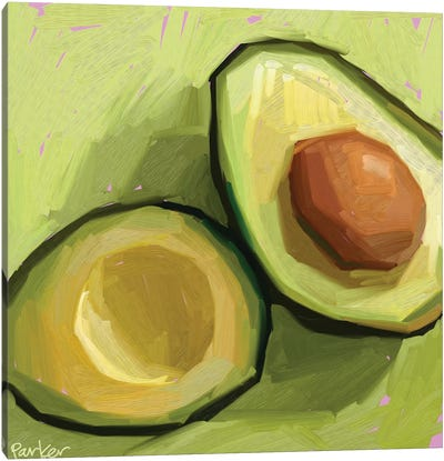 Just An Avocado Canvas Art Print