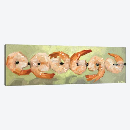 Dancing Shrimp Canvas Print #TEP56} by Teddi Parker Canvas Art Print
