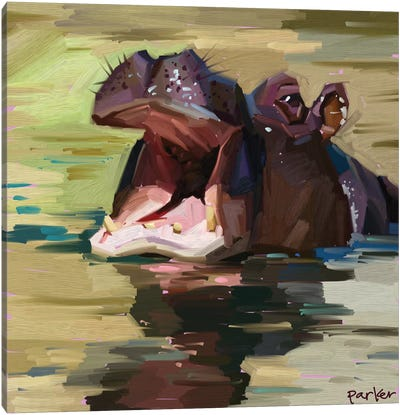 Purple Hippo Canvas Art Print