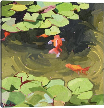 Wild Goldfish Canvas Art Print