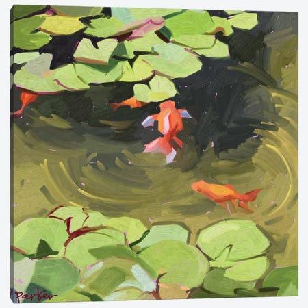 Wild Goldfish Canvas Print #TEP62} by Teddi Parker Canvas Art Print