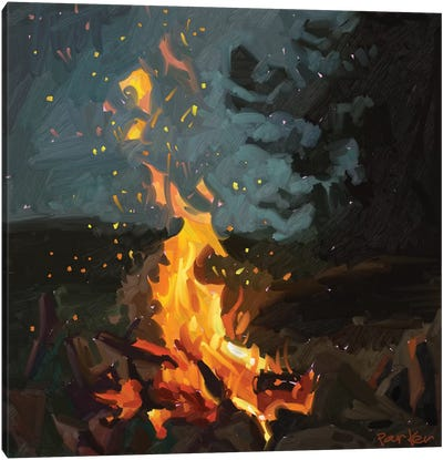 Blazing Fire Canvas Art Print