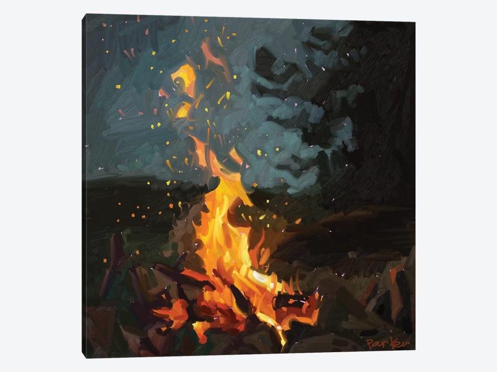 Blazing Fire by Teddi Parker 1-piece Canvas Print