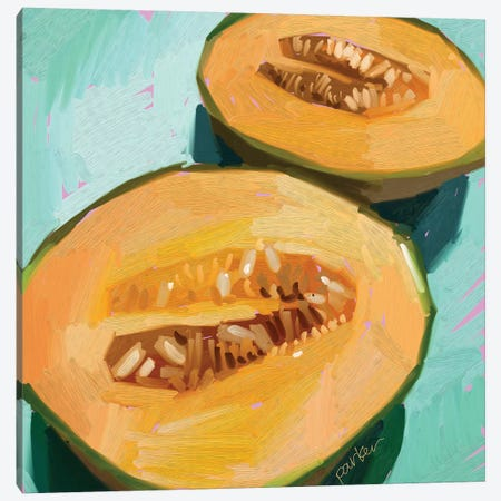Cantaloupe Canvas Print #TEP67} by Teddi Parker Canvas Artwork
