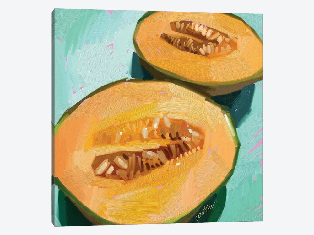Cantaloupe by Teddi Parker 1-piece Canvas Wall Art