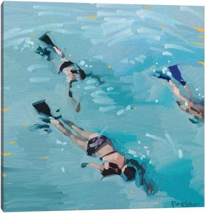 Scuba Girls Canvas Art Print